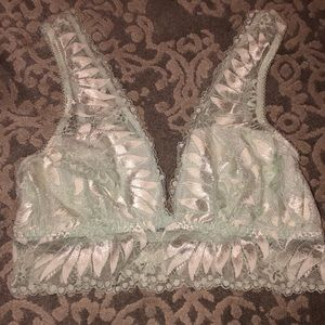 Aerie blue lace bralette size small